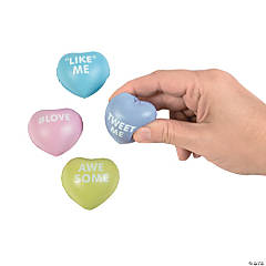 Mini Conversation Heart Stress Toys