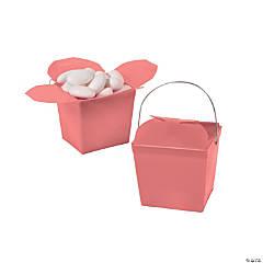 Mini Coral Takeout Boxes