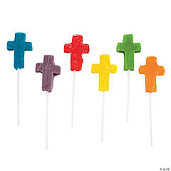 Mini Cross-Shaped Lollipops