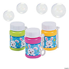 Mini Easter Bunny Bubble Bottles