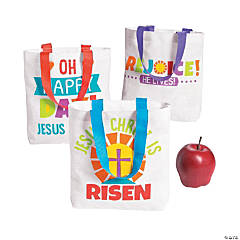 Mini Easter He Lives Tote Bags
