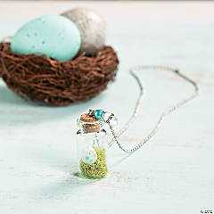 Mini Easter Terrarium Necklace Idea