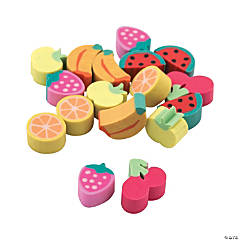 Mini Fruit Erasers