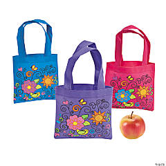 Mini Funky Flower Tote Bags