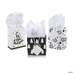 Mini Gold Christmas Gift Bags