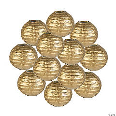 Mini Gold Paper Lanterns - 4 1/2