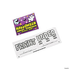 Mini Halloween Crazy Phrases Activity Books