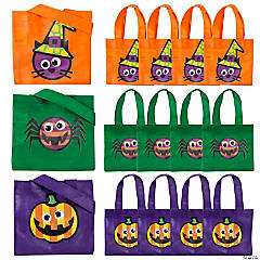 Mini Halloween Googly Eye Tote Bags