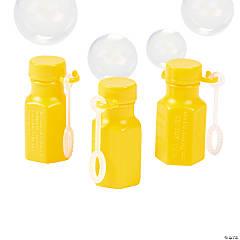 Mini Hexagon Yellow Bubble Bottles