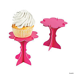 Mini Hot Pink Cupcake Pedestals