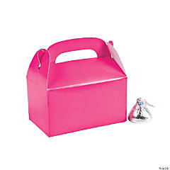 Mini Hot Pink Favor Boxes