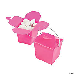 Mini Hot Pink Takeout Boxes