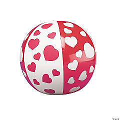 Mini Inflatable Heart Beach Balls