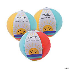 "Mini Inflatable ""Smile! Jesus Loves You!"" Beach Balls"