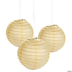 Mini Ivory Hanging Paper Lanterns