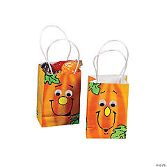 Mini Jack-O'-Lantern Paper Gift Bags with Googly Eyes
