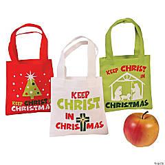 Mini Keep Christ in Christmas Tote Bags