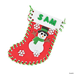 Mini Lacing Christmas Stocking Craft Kit