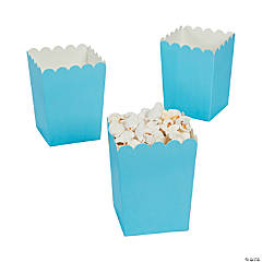 Mini Light Blue Popcorn Boxes