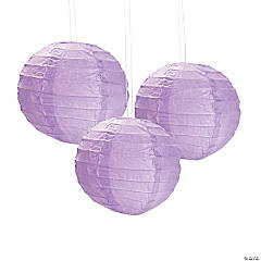 Mini Lilac Hanging Paper Lanterns