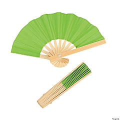 Mini Lime Bamboo Folding Hand Fans