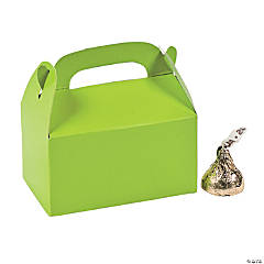 Mini Lime Green Treat Boxes
