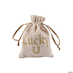 Mini Lucky Drawstring Treat Bags