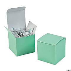Mini Mint Green Favor Boxes