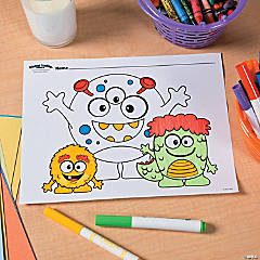 Mini Monster Free Printable Coloring Page Idea