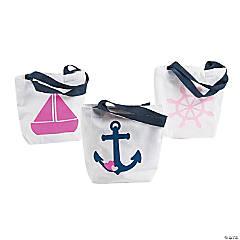 Mini Nautical Girl Tote Bags