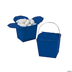 Mini Navy Blue Takeout Boxes