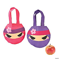 Mini Ninja Girl Tote Bags