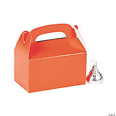 Mini Orange Favor Boxes