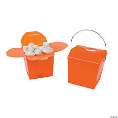 Mini Orange Takeout Boxes