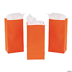 Mini Orange Treat Bags