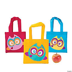 Mini Owl Party Tote Bags