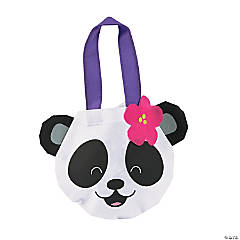 Mini Panda Face Tote Bags