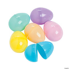 Mini Pastel Plastic Easter Eggs