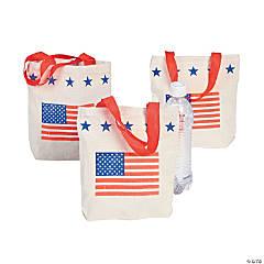 Mini Patriotic Canvas Tote Bags