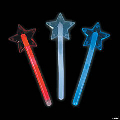 Mini Patriotic Star Glow Wands
