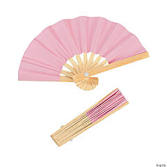 Mini Pink Bamboo Fans