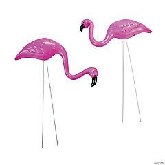 Mini Pink Flamingo Yard Ornaments