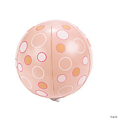 Mini Pink Polka Dot Beach Balls