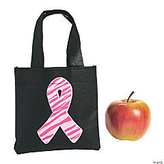 Mini Pink Ribbon Tote Bags