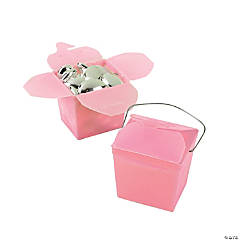 Mini Pink Takeout Boxes