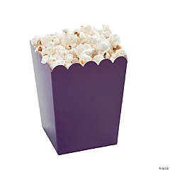 Mini Plum Popcorn Boxes