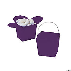 Mini Plum Takeout Boxes