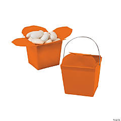 Mini Pumpkin Orange Takeout Boxes