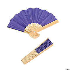 Mini Purple Bamboo Folding Hand Fans