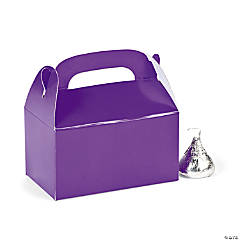 Mini Purple Favor Boxes